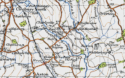 Old map of Wrickton in 1947