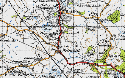 Old map of Wrinehill in 1946
