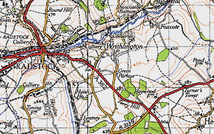 Old map of Writhlington in 1946
