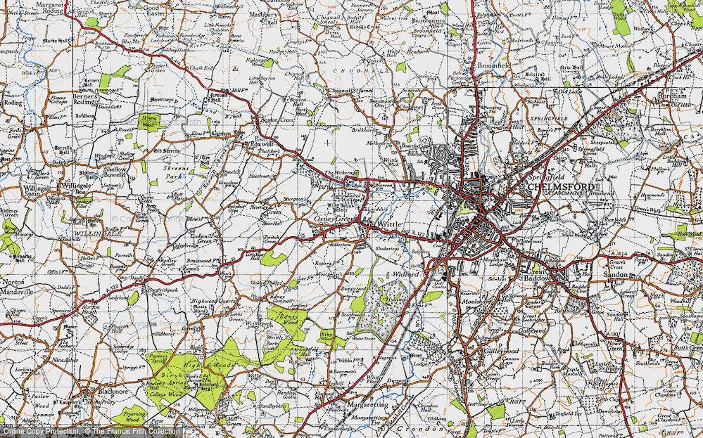 Old Map of Writtle, 1946 in 1946
