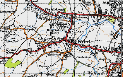 Old map of Writtle in 1946