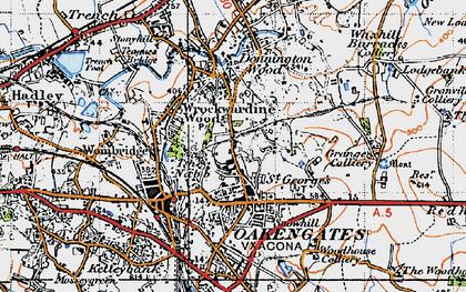 Old map of Wrockwardine Wood in 1946