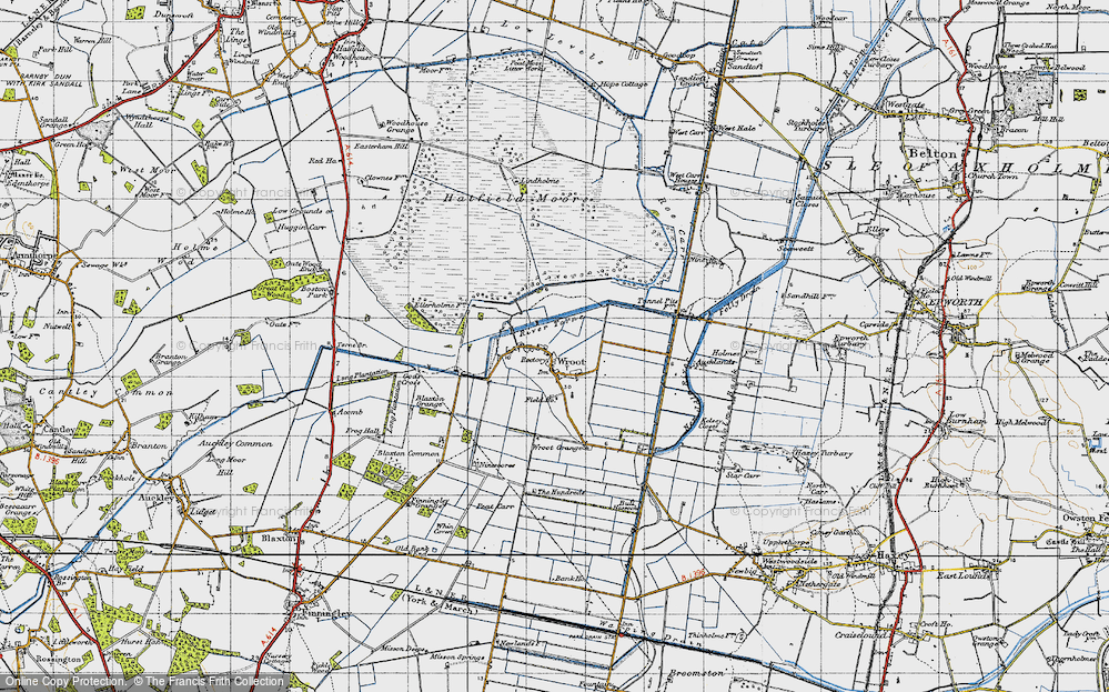 Old Map of Wroot, 1947 in 1947