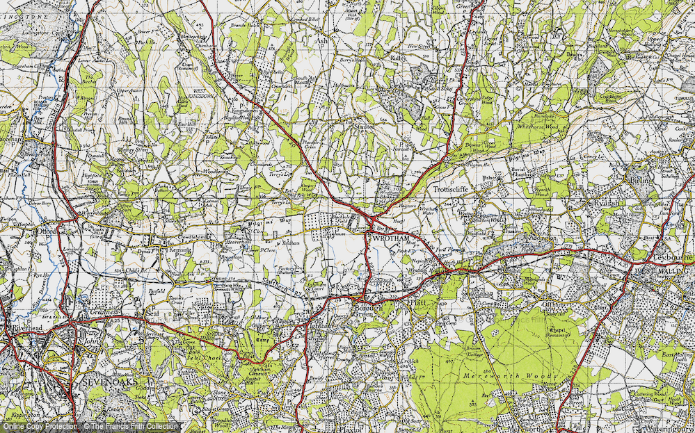 Old Map of Wrotham, 1946 in 1946