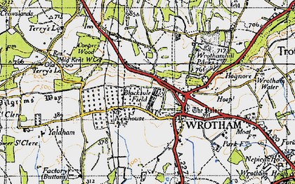 Old map of Wrotham in 1946