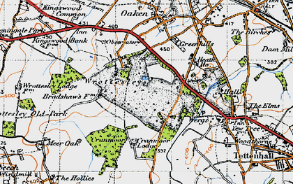 Old map of Wrottesley Park in 1946