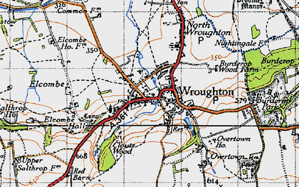 Old map of Wroughton in 1947