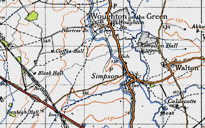 Old map of Wroughton Park in 1946