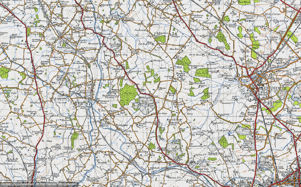 Old Map of Wroxall, 1947 in 1947