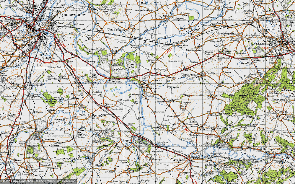 Old Map of Wroxeter, 1947 in 1947