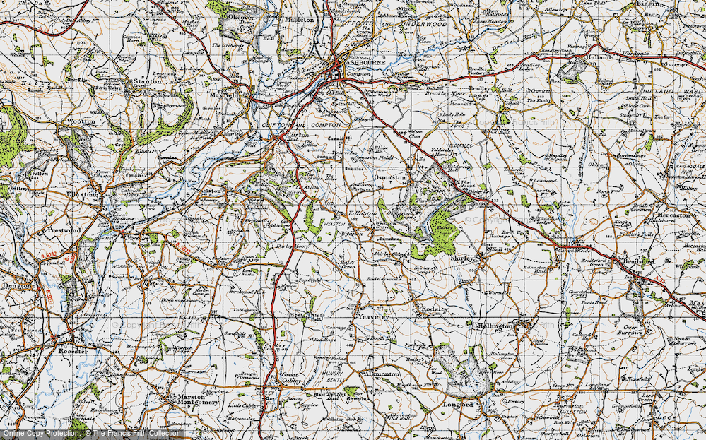 Old Map of Wyaston, 1946 in 1946