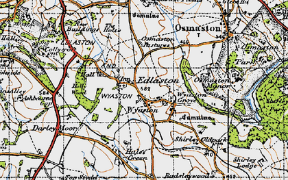 Old map of Wyaston in 1946