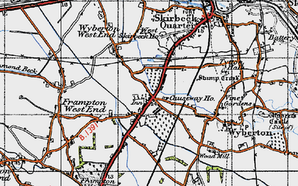 Old map of Wyberton in 1946