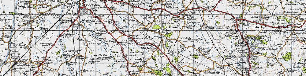 Old map of Wybunbury Grange in 1946