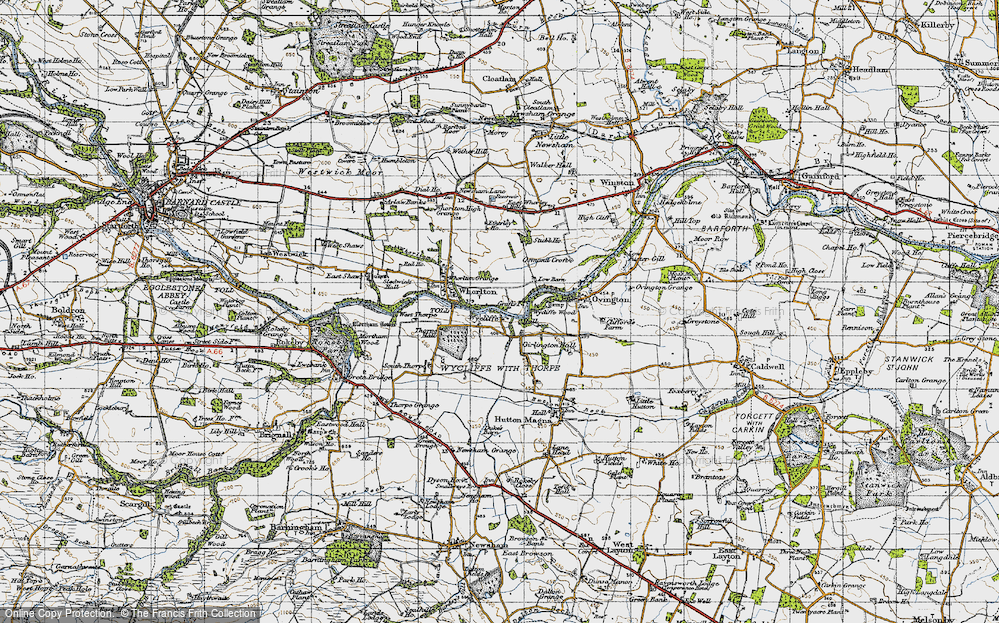 Old Map of Wycliffe, 1947 in 1947