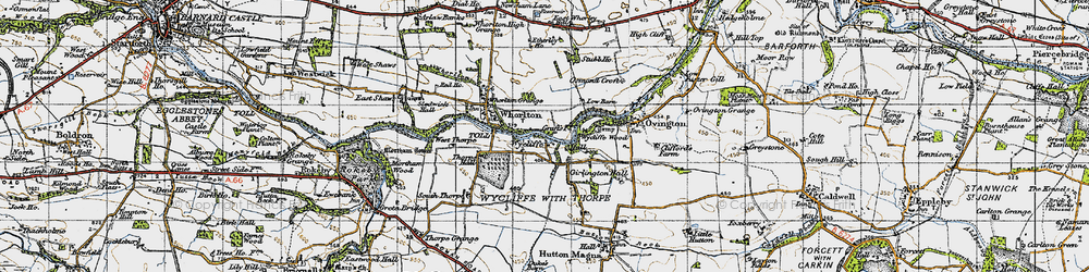 Old map of Wycliffe in 1947