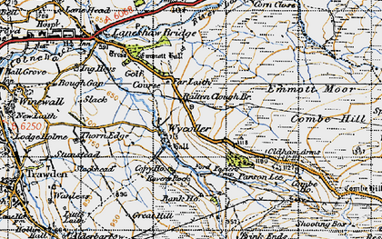 Old map of Wycoller in 1947