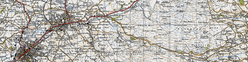 Old map of Wolf Stones in 1947
