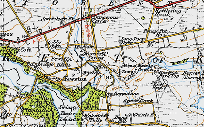 Old map of Bank Slack in 1947