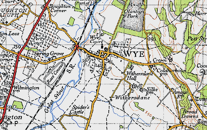 Old map of Wye Court in 1940