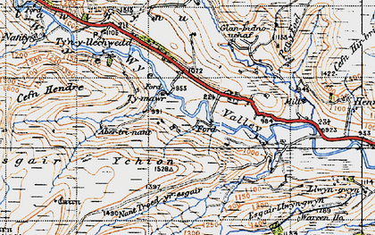 Old map of Wye Valley in 1947