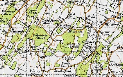 Old map of Wyebanks in 1946