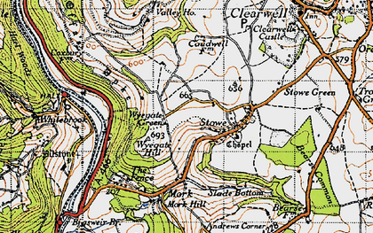 Old map of Wyegate Hill in 1946