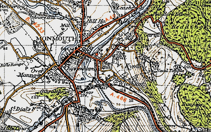 Old map of Wyesham in 1946