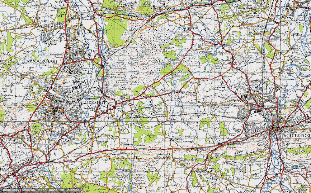 Old Map of Wyke, 1940 in 1940