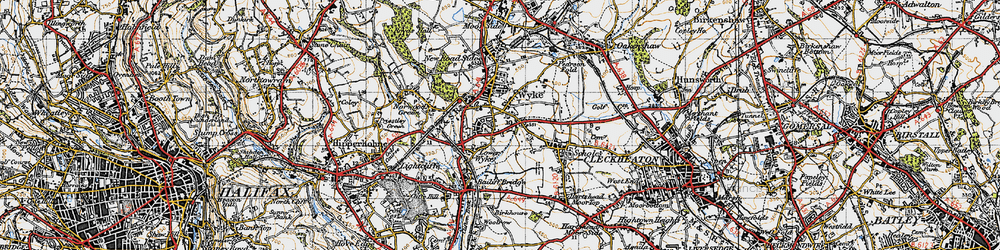 Old map of Wyke in 1947