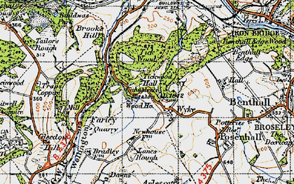 Old map of Tickwood Hall in 1947