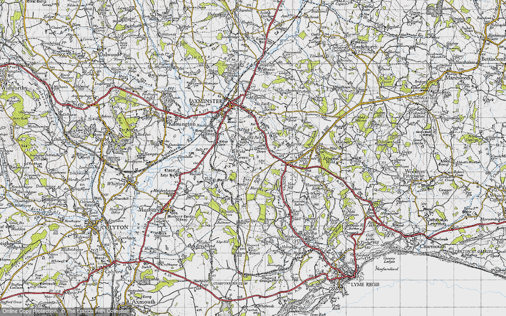 Old Map of Wyke Green, 1945 in 1945
