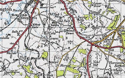Old map of Wyke Green in 1945