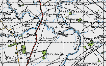 Old map of Wykeham in 1947