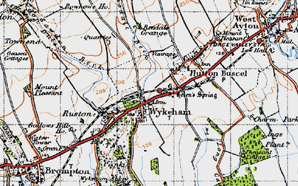 Old map of Wykeham Abbey in 1947