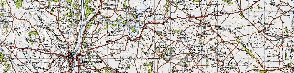 Old map of Wyken in 1946
