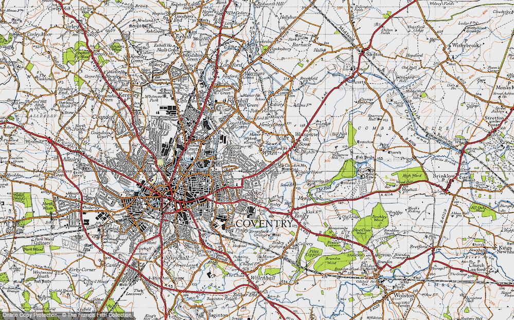 Old Map of Wyken, 1946 in 1946