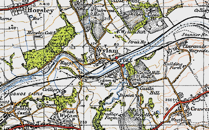 Old map of Wylam in 1947