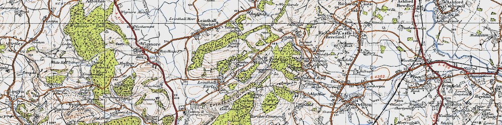 Old map of Wylde in 1947