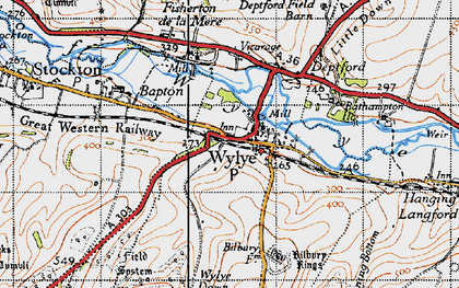 Old map of Bake, The in 1940