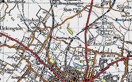 Old map of Wymans Brook in 1946