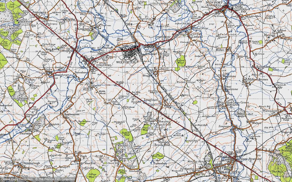 Old Map of Wymbush, 1946 in 1946