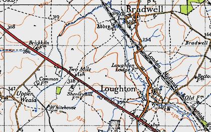 Old map of Wymbush in 1946