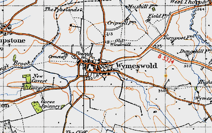 Old map of Wymeswold in 1946