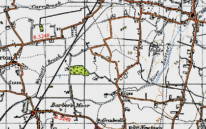 Old map of Wymott in 1947