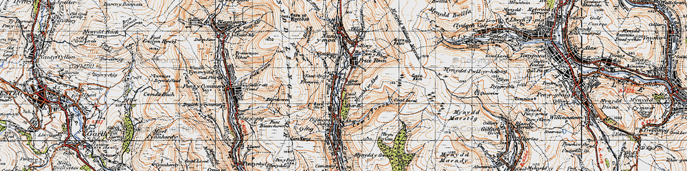 Old map of Wyndham in 1947