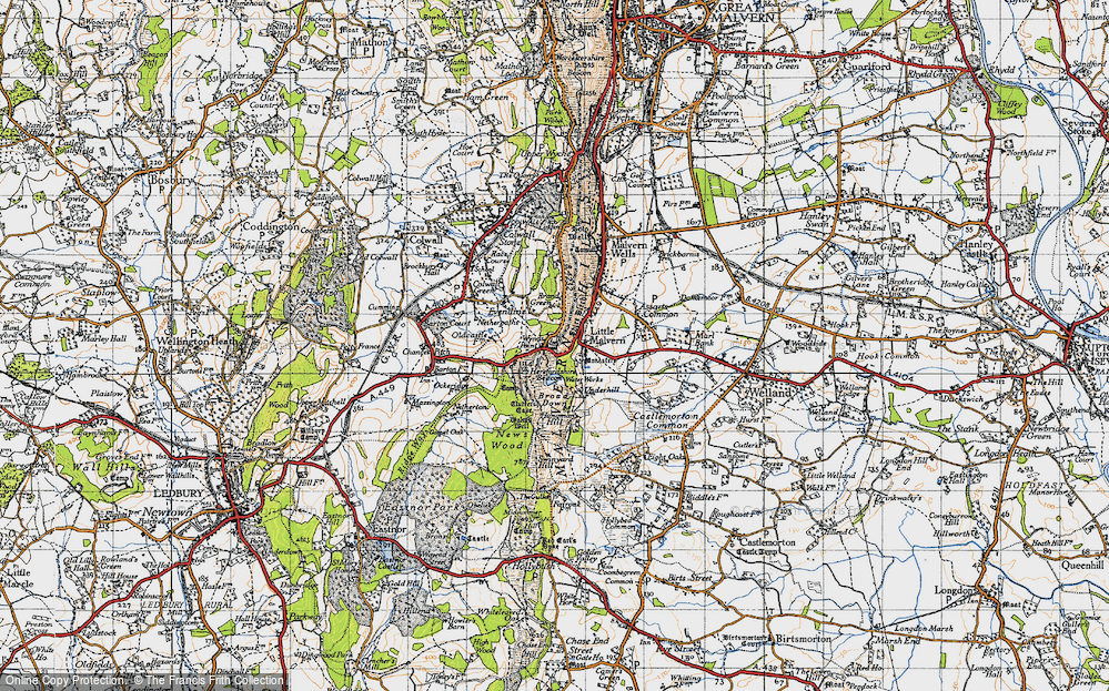 Old Map of Wynds Point, 1947 in 1947