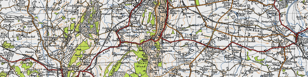 Old map of Wynds Point in 1947
