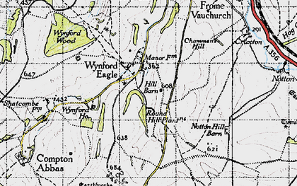Old map of Wynford Ho in 1945