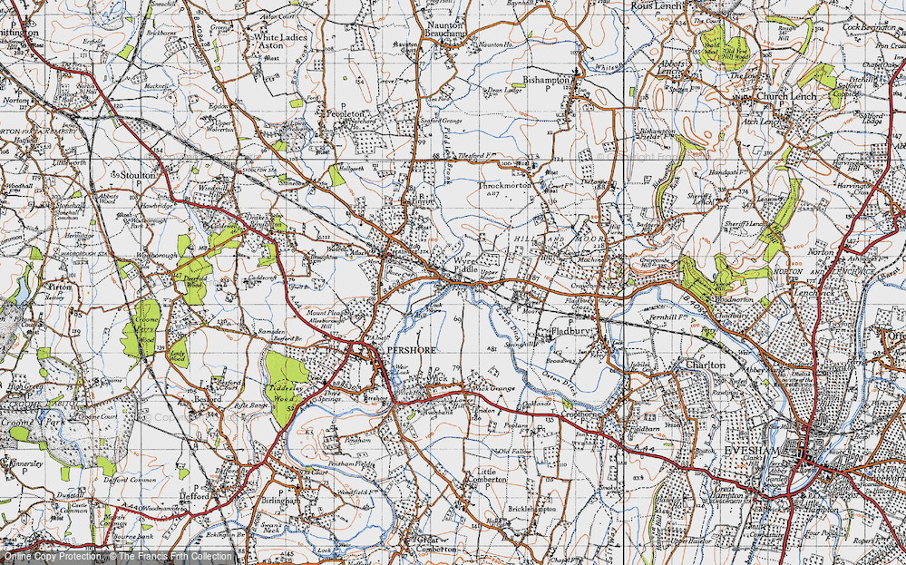 Old Map of Wyre Piddle, 1946 in 1946